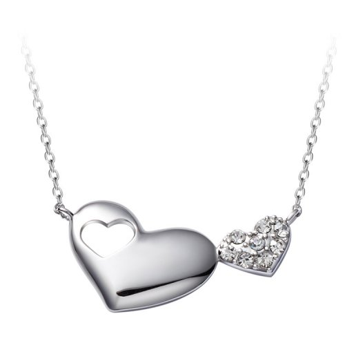 Crystals From Swarovski® | Silver Heart Pendant Necklace