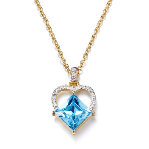 Crystals From Swarovski® | 18K Gold-Plated Crystal Statement Pendant Necklace