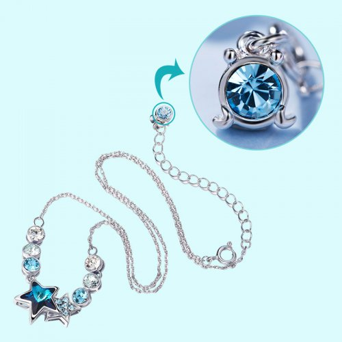 Crystals From Swarovski® | Zodiac Cancer Crystal Star Bead Pendant Necklace