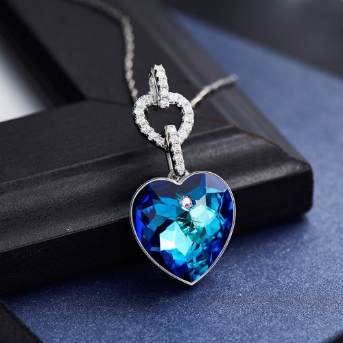 Crystals From Swarovski® | S925 Sterling Silver Crystal Heart Pendant Neck
