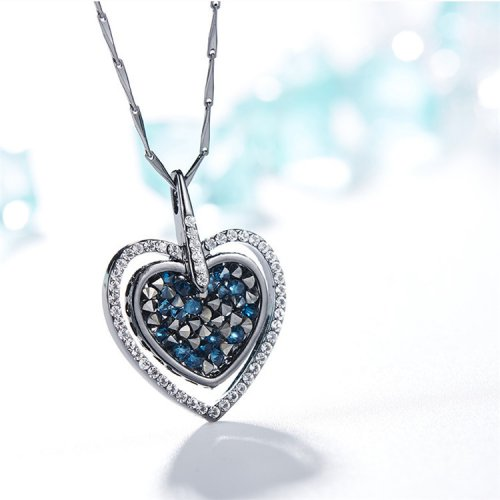 Crystals From Swarovski® | Blue Heart Pendant Necklace