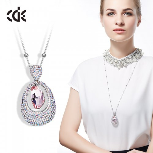Crystals From Swarovski® | Large Crystal Drop Pendant Sweater Pendant Neck