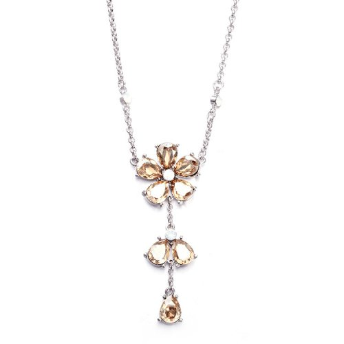 Crystals From Swarovski® | Brown Plum Blossom Crystal Pendant Necklace