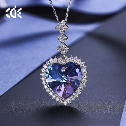 Crystals From Swarovski® | Amethyst Crystal Pendant Necklace