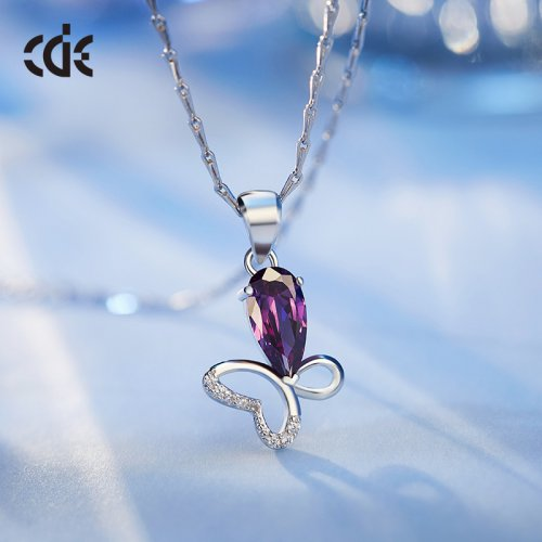 Crystals From Swarovski® | S925 Sterling Silver Asymmetric Butterfly Penda
