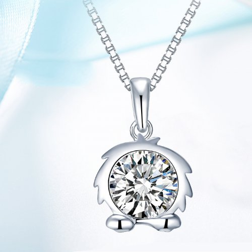 Crystals From Swarovski® | 925 Sterling Silver Zodiac Leo Pendant Necklace