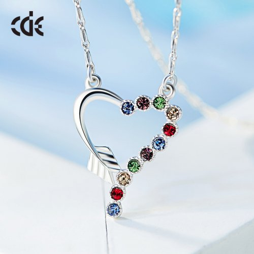 Crystals From Swarovski® | Multi Colored Crystal Pendant Necklace
