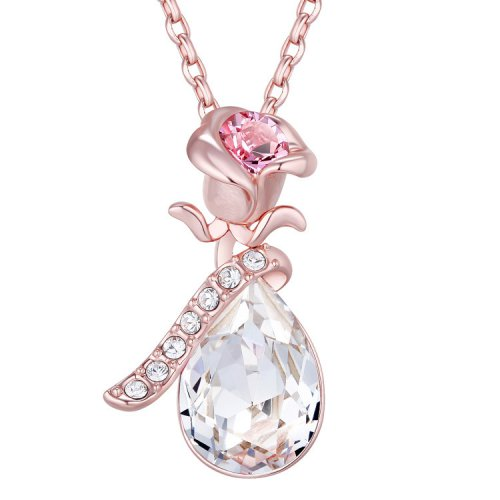 Crystals From Swarovski® | Swarovski Rose Gold Clear Crystal Pendant Necklace