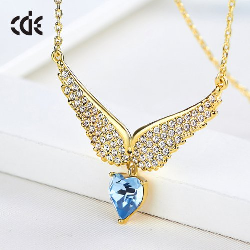 Crystals From Swarovski® | 18K Gold-Plated Wings Of Angel Pendant Necklace