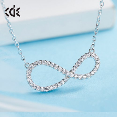 925 Sterling Silver Crystals From Swarovski Infinity Necklace