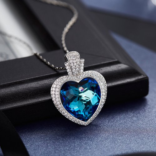 Crystals From Swarovski® | Heart Shaped Pendant Necklace