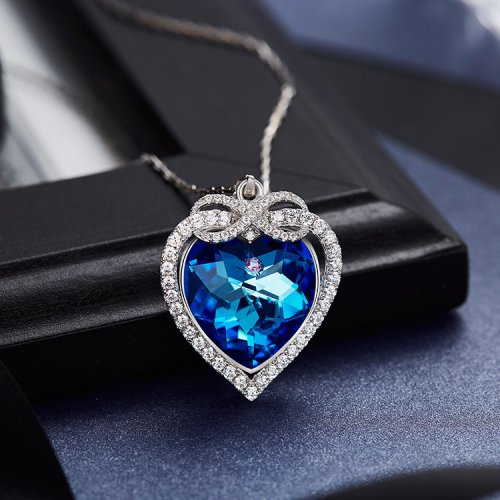 Crystals From Swarovski® | Swarovski Blue Elements Heart Pendant