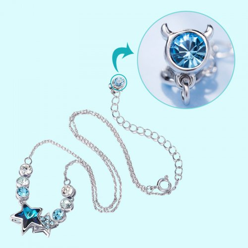 Crystals From Swarovski® | Zodiac Taurus Crystal Star Bead Pendant Necklace
