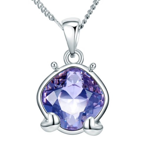 Crystals From Swarovski® | Zodiac Cancer Long Sweater Pendant Necklace