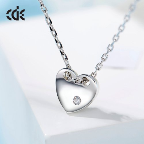 925 Sterling Silver Small Crystal Necklace