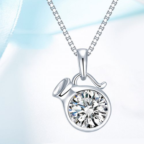 Crystals From Swarovski® | 925 Sterling Silver Zodiac Aquarius Pendant Necklace