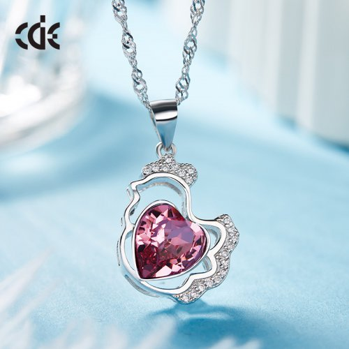 Crystals From Swarovski® | Ruby Heart Pendant Necklace
