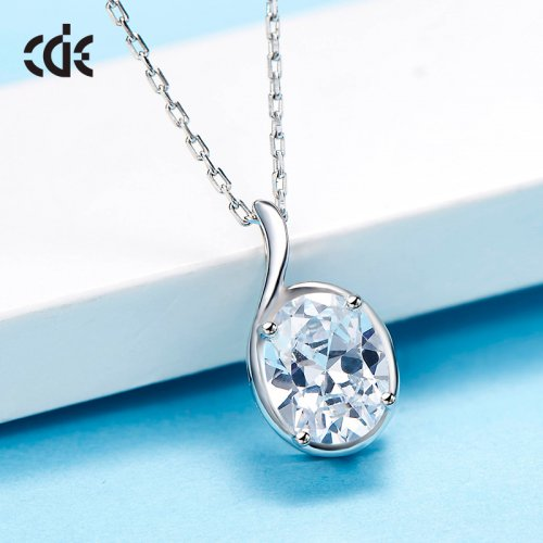 925 Sterling Silver Small Crystal Hearts And Arrows Pendant Necklace