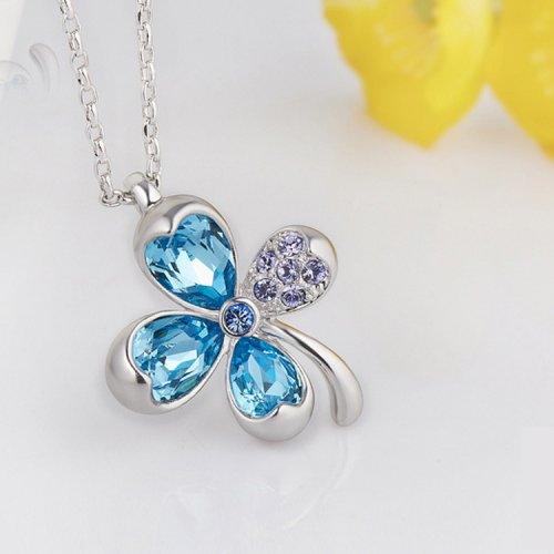 Crystals From Swarovski® | Clover Pendant Necklace