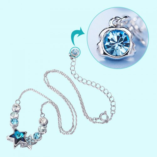 Crystals From Swarovski® | Zodiac Gemini Crystal Star Bead Pendant Necklace