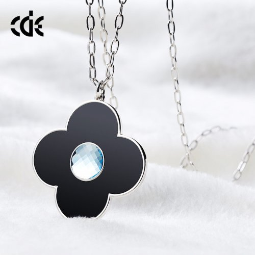 Crystals From Swarovski® | Long Crystal Flower Pendant Sweater Pendant Nec