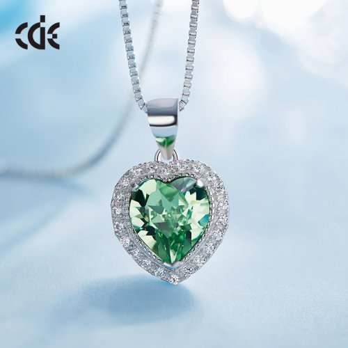 Crystals From Swarovski® | Birthstone May Crystal Stone Pendant Necklace