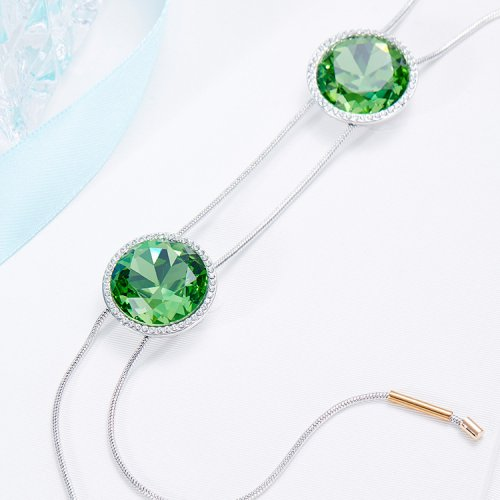 Crystals From Swarovski® | Green Crystal Pendant Necklace