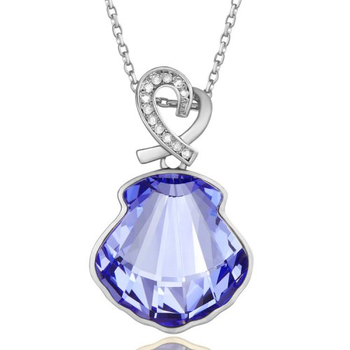 Crystals From Swarovski® | Long Crystal Shell Pendant Sweater Pendant Neck