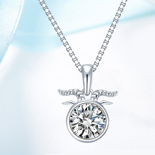 Crystals From Swarovski® | 925 Sterling Silver Zodiac Capricorn Pendant Necklace
