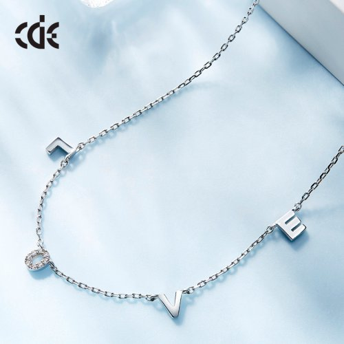 Crystal Love Letters Pendant Necklace