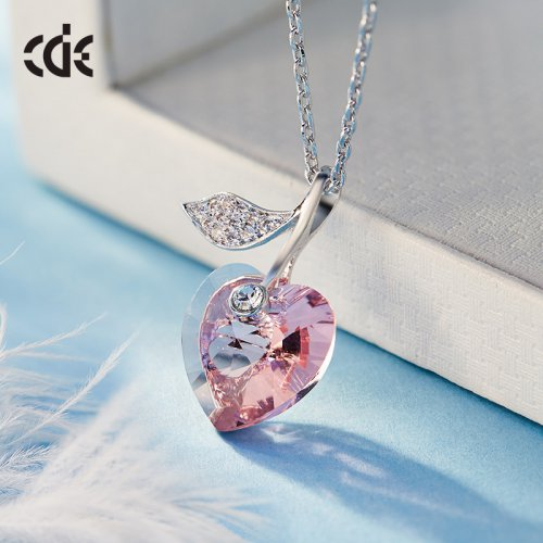 Crystals From Swarovski® | Swarovski Pendant Necklace Pink Crystal Heart Pendant