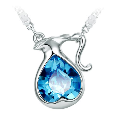 Crystals From Swarovski® | Zodiac Aquarius Long Sweater Pendant Necklace
