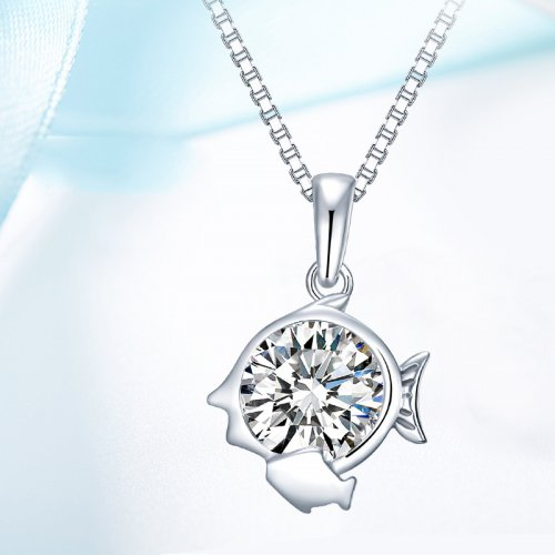 Crystals From Swarovski® | 925 Sterling Silver Zodiac Pisces Pendant Neckl