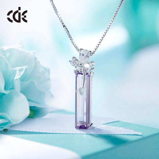 S925 Sterling Silver Healing Natural Quartz Rock Pointed Crystal Pendant Necklace - Click Image to Close