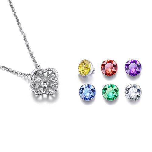 Crystals From Swarovski® | Modifiable Weekly Clover Pendant Necklace