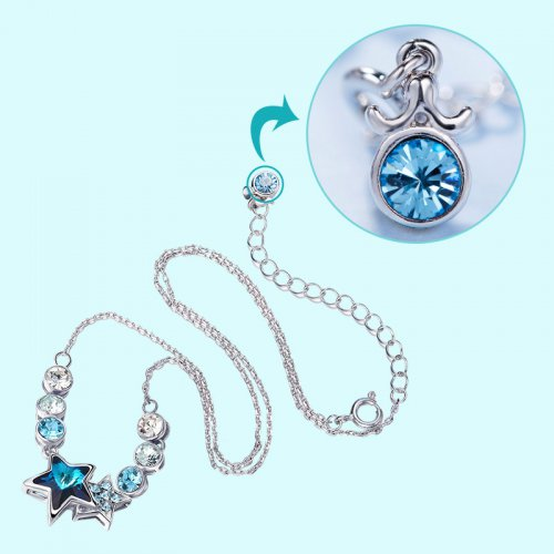 Crystals From Swarovski® | Zodiac Libra Crystal Star Bead Pendant Necklace