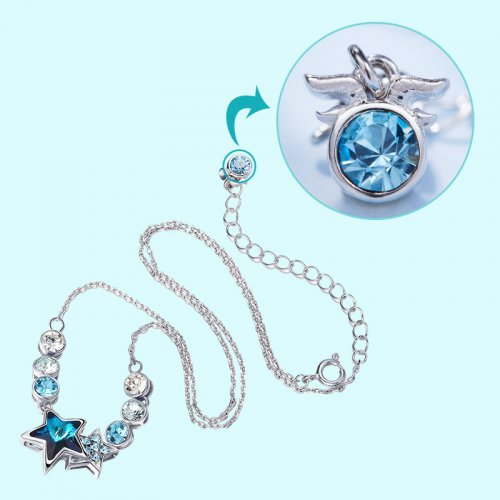 Crystals From Swarovski® | Zodiac Capricorn Crystal Star Bead Pendant Necklace