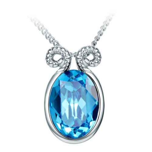 Crystals From Swarovski® | Zodiac Aries Long Sweater Pendant Necklace