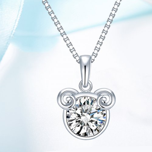 Crystals From Swarovski® | 925 Sterling Silver Zodiac Aries Pendant Necklace