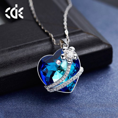 Crystals From Swarovski® | Rose Hearts Pendant Necklace