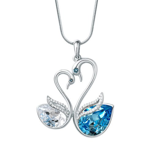 Crystals From Swarovski® | Crystal Swan Pendant Necklace