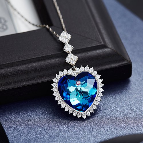 Crystals From Swarovski® | S925 Sterling Silver Pendant Necklace Heart