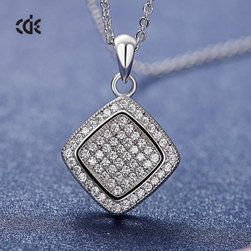Crystals From Swarovski® | Double Square Pendant Necklace