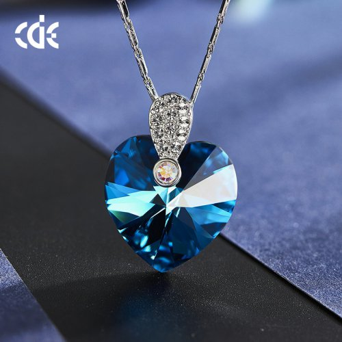 Crystals From Swarovski® | Crystal Blue Heart Pendant Necklace